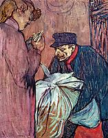 The Laundryman Calling at the Brothal, 1894, toulouselautrec