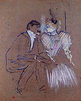 Lucien Guitry and Granne Granier, 1895, toulouselautrec