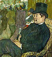 M. Delaporte at the Jardin de Paris, 1893, toulouselautrec