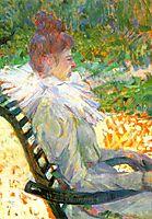Madame E. Tapie de Celeyran in a Garden, 1896, toulouselautrec