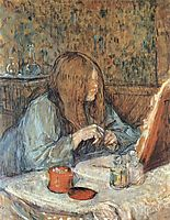 Madame Poupoule at Her Dressing Table, 1898, toulouselautrec