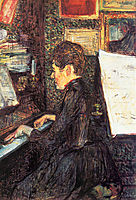 Mademoiselle Dihau at the Piano, 1890, toulouselautrec