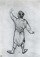 Man in a Shirt, From Behind, 1888, toulouselautrec
