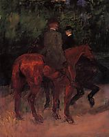 Man and Woman Riding through the Woods, 1901, toulouselautrec