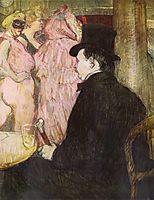 Maxime Dethomas At the Ball of the Opera, 1896, toulouselautrec