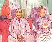 Monsieur, Madame and the Dog (Coupled brothel keepers), c.1894, toulouselautrec