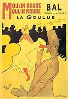 Moulin Rouge La Goulue, 1891, toulouselautrec