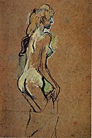 Nude Girl, 1893, toulouselautrec