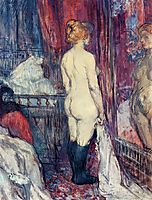Nude Standing before a Mirror, 1897, toulouselautrec