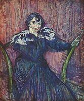 Portrait of Berthe Bady, 1897, toulouselautrec