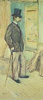 Portrait of M. Paul Sescau (Portrait de M. Paul Sescau), c.1891, toulouselautrec