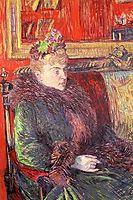 Portrait of Madame de Gortzikolff, 1893, toulouselautrec