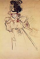 Portrait of Misia Natanson (Sert), 1895, toulouselautrec
