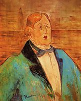 Portrait of Oscar Wilde, 1895, toulouselautrec