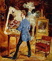Princeteau in His Studio, 1881, toulouselautrec