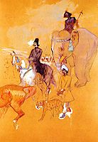 The Procession of the Raja, 1895, toulouselautrec