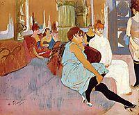 The Salon in the Rue des Moulins, 1894, toulouselautrec