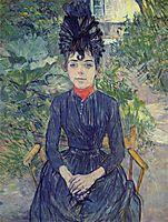 Seated Womanin theGardenofMr.ForestJustineDieuhl, 1890, toulouselautrec