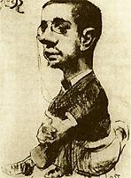 Self Portrait, 1882, toulouselautrec