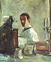 Self-portrait in front of a mirror, 1883, toulouselautrec