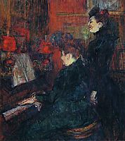 The Singing Lesson. (The Teacher, Mlle.Dihau, with Mme.Faveraud), 1898, toulouselautrec