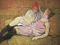 The Sofa, 1896, toulouselautrec