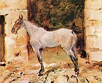 Tethered Horse, c.1881, toulouselautrec