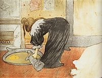 They Woman with a Tub, 1896, toulouselautrec