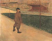 Tristan Bernard at the Buffalo Station, 1895, toulouselautrec