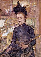 Woman in a Black Hat, Berthe la Sourde, 1890, toulouselautrec