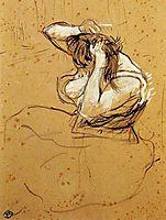 Woman Brushing Her Hair, toulouselautrec