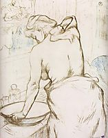 Woman at Her Toilette them, Washing Herself, 1896, toulouselautrec