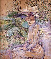 Woman in Monsieur Forest s Garden, 1891, toulouselautrec