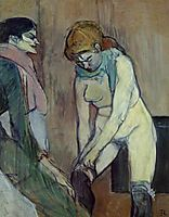 Woman Pulling up Her Stockings, 1894, toulouselautrec