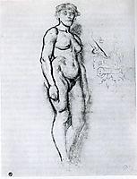 Woman Standing in Semi Profile, 1883, toulouselautrec