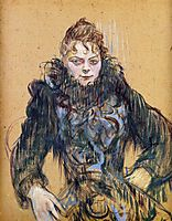 Woman with a Black Boa, 1892, toulouselautrec