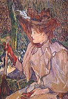 Woman with Gloves (Honorine Platzer), 1891, toulouselautrec