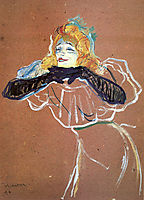 Yvette Guibert singing, 1894, toulouselautrec