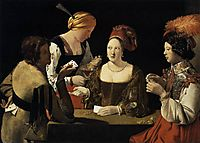 The Cheat with the Ace of Diamonds, 1635, tour