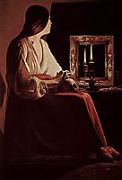 Repenting Magdalene, also calledMagdalene and Two Flames, 1643, tour