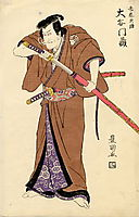 The actor Otani Monzo in the role of Igarashi Tenzen, c.1815, toyokuni