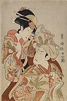 The actors Matsumoto Yonesaburô I and Nakamura Denkurô IV, 1798, toyokuni