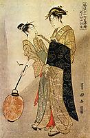 Courting Komachi, 1792, toyokuni