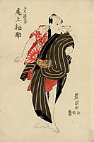 Kabuki actor Eisaburō Onoe I (Kikugorō Onoe III), c.1800, toyokuni