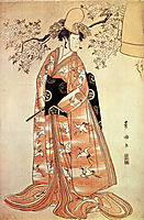 Nakamura Nosio the second performs the dance , 1796, toyokuni