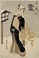 Three Beauties: Snow, c.1810, toyokuni