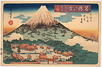 Evening Snow on Fuji from a set of Eight Famous Views published by Iseya Rihei, c.1834, toyokuniii