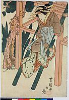 The kabuki actors Onoe Kikugoro III as Oboshi Yuranosuke, 1825, toyokuniii