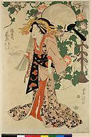 Tsuruya-uchi Fujiwara wataru Hisa no, c.1830, toyokuniii