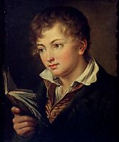 Boy with book, tropinin